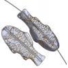 Glass Bead Fish 28x13mm Alexandrite Gold Strung